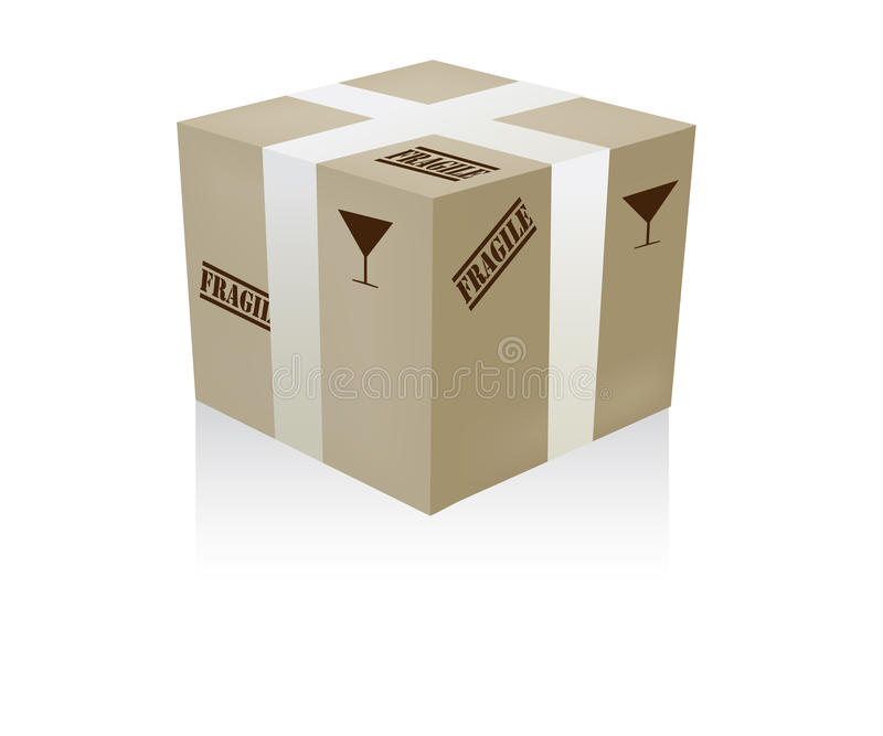 Download Fragile box stock vector. Image of business, delivery - 27694373