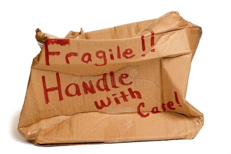 Fragile Brown Box XXXL Royalty Free Stock Images
