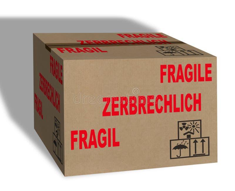Download Fragile Carton box stock illustration. Image of pack - 24819192