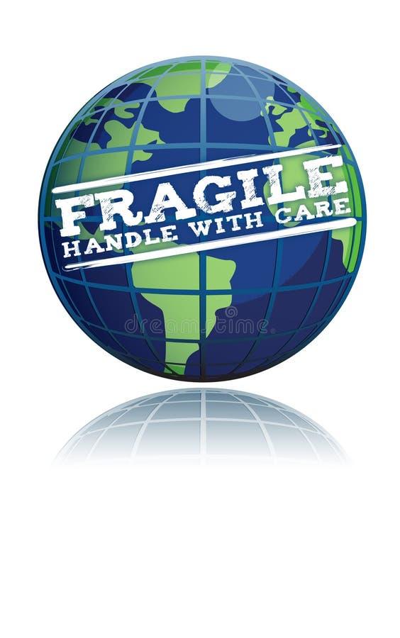 Download Fragile globe stock illustration. Illustration of continents - 18647700
