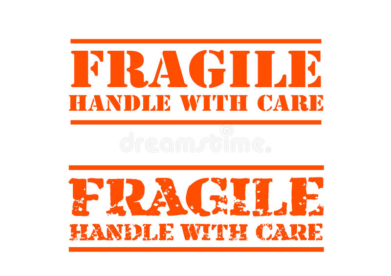 Fragile handle with Care stock illustration