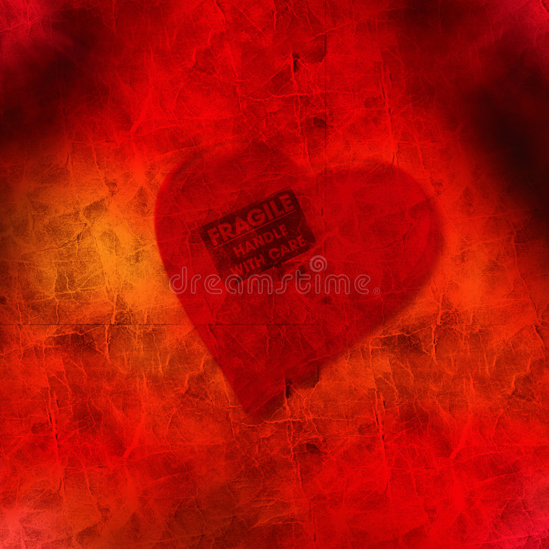 Fragile heart royalty free stock photography