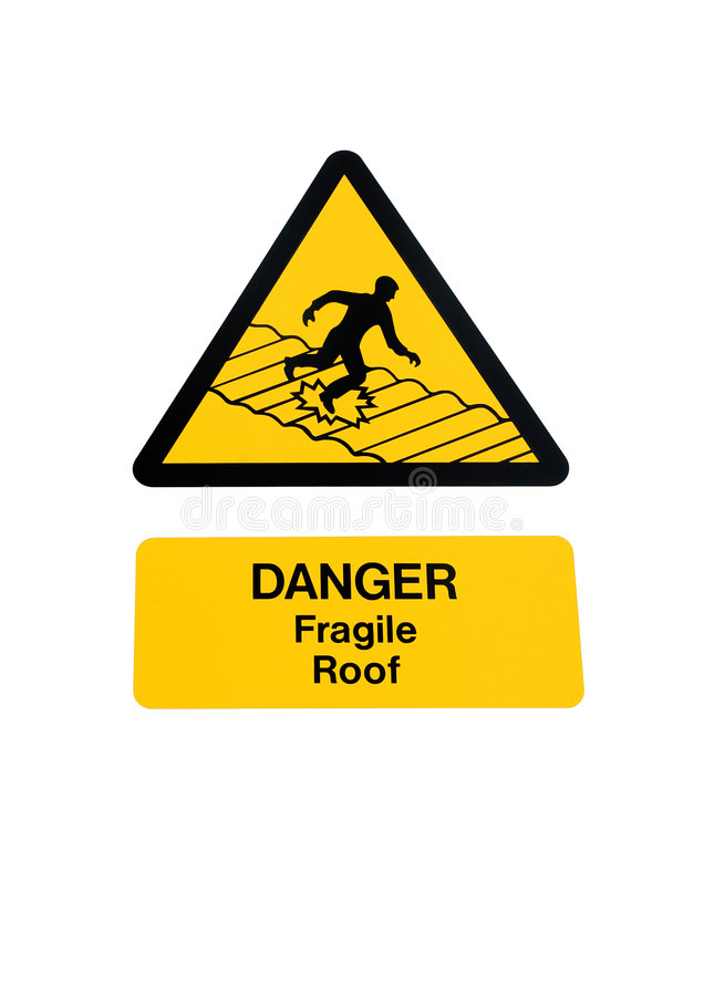 Fragile Roof Sign Stock Illustration Illustration Of