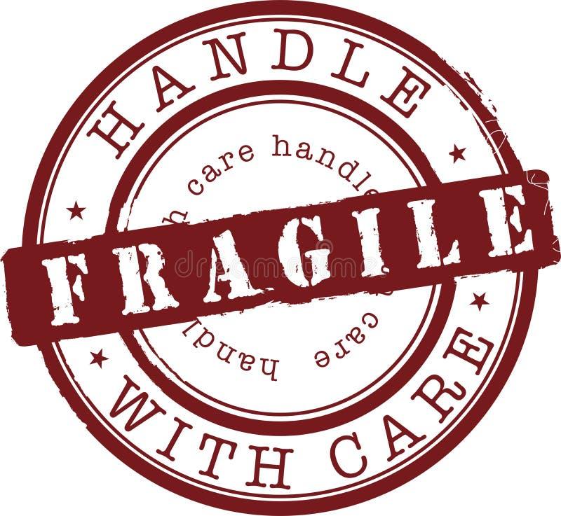 Fragile stamp stock vector. Illustration of vector, tattoo ...