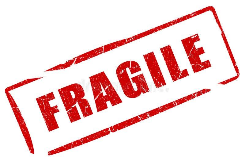 Fragile stamp stock illustration. Illustration of emblem ...