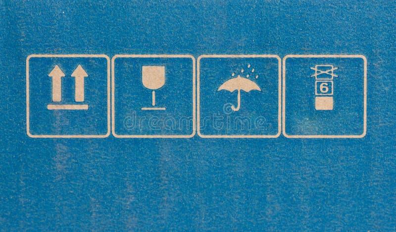 Fragile Symbol On Cardboard. royalty free stock image