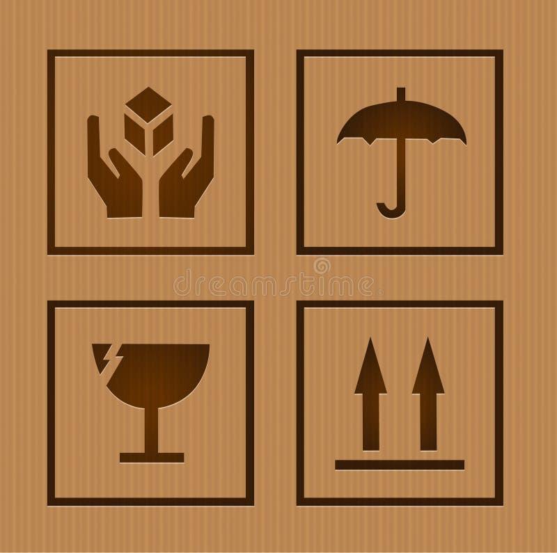 Download Fragile symbols stock vector. Image of illustration, packaging - 32500494