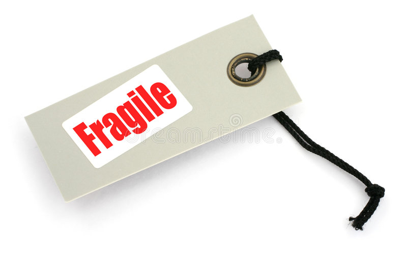 Download Fragile tag or label stock photo. Image of overhead, sign - 3795218