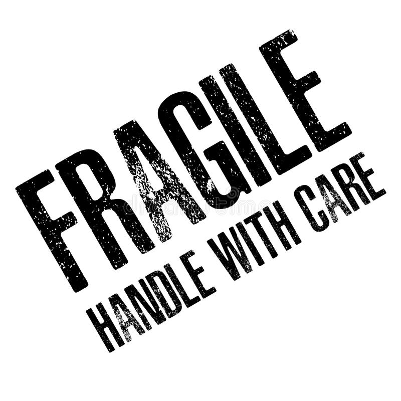 Free Fragile With Handle With Care Isolated On White Background. Royalty Free Stock Photography - 83924397