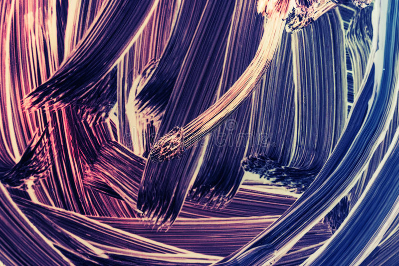Fragment abstrait de peinture à l'huile avec des courses de brosse illustration stock