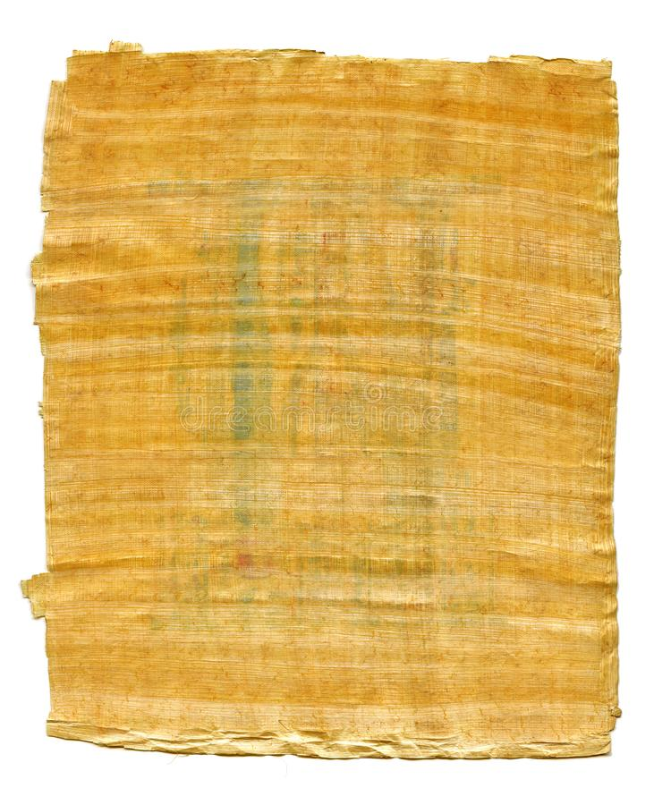 Fragment of Ancient Egyptian papyrus from The Karnak temple, Thebes valley, Luxor, Egypt. Antique manuscript, sheet of parchment. Fragment of Ancient Egyptian stock photos