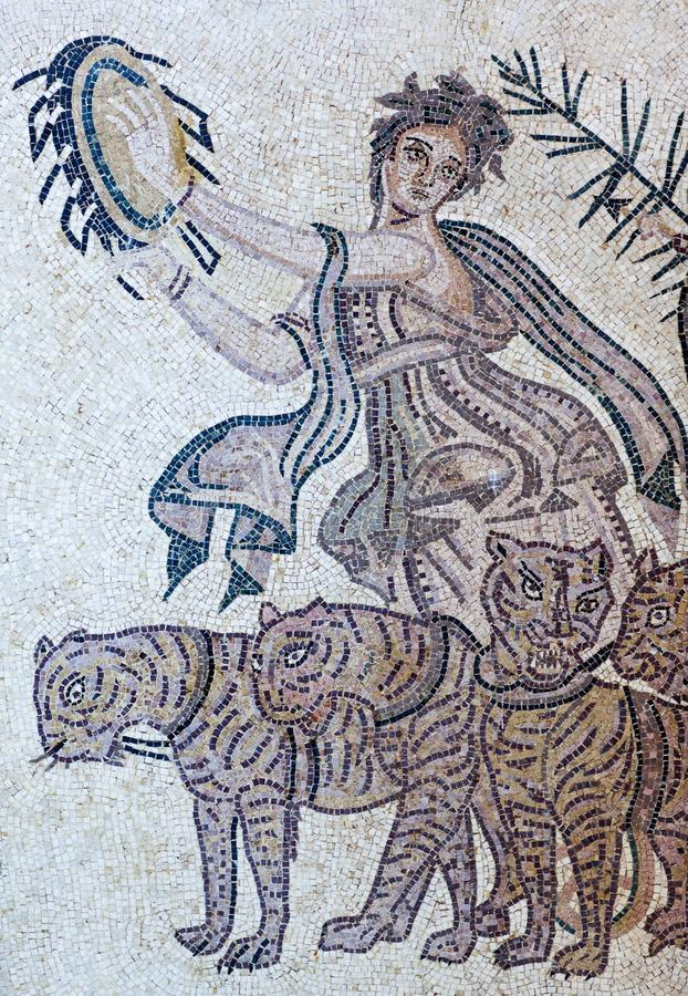 Ancient mosaic from the Byzantine period stock photography