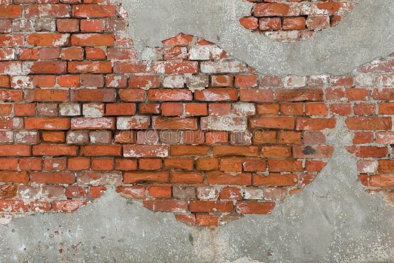 Fragment of ancient red brick wall royalty free stock photography