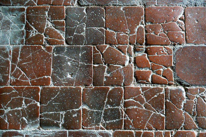 Fragment of ancient road surface stock photography