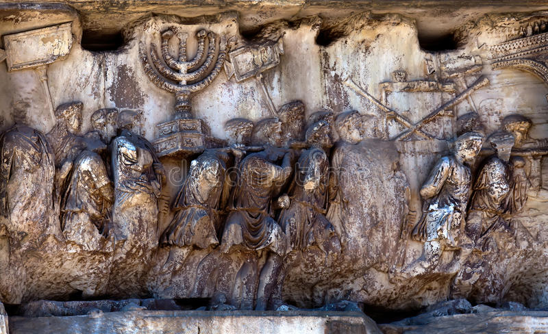 Fragment of the Arch of Titus at the Roman Forum