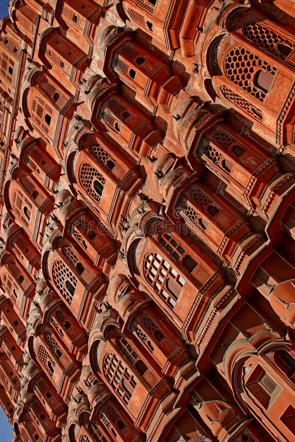 Fragment of the architectural decision. Of an ancient planetarium in Jaipur, India royalty free stock photos