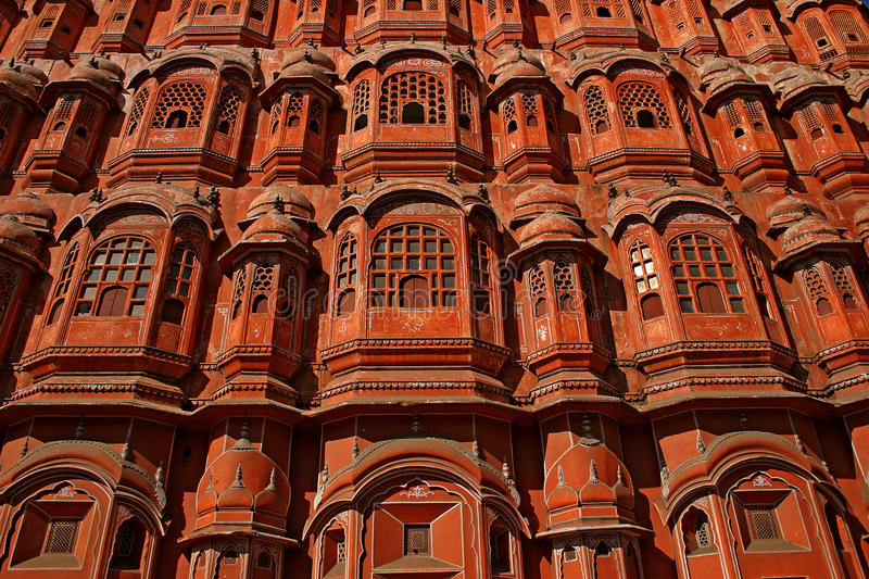 Fragment of the architectural decision. Of an ancient planetarium in Jaipur, India royalty free stock image