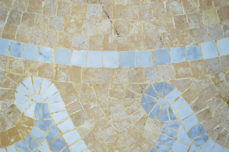Fragment of artistic handmade tiles design background, closeup top view stock images