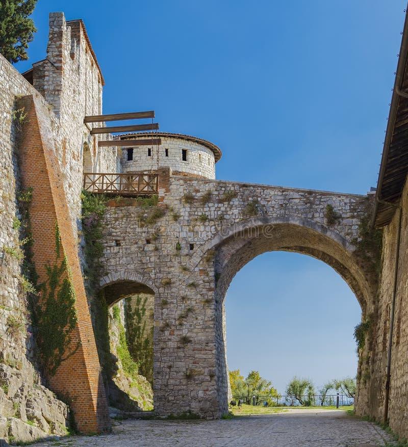 Fragment av befästningarna arkivfoton