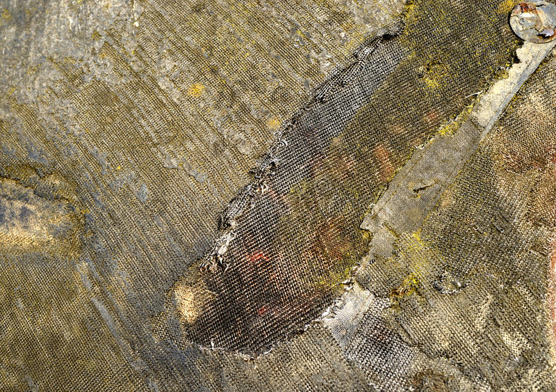 Fragment av bränd till kol hud av den topografiska satelliten för lander arkivfoto