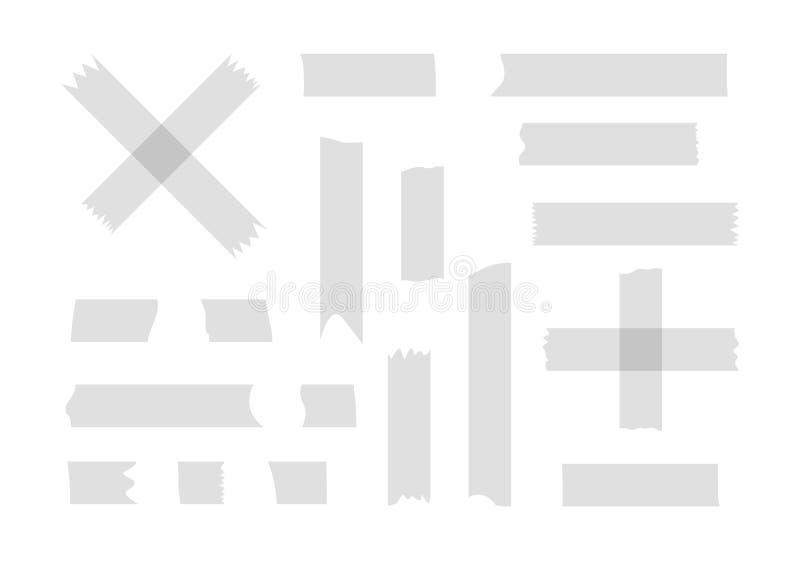 Fragment av den gråa tejpen royaltyfri illustrationer