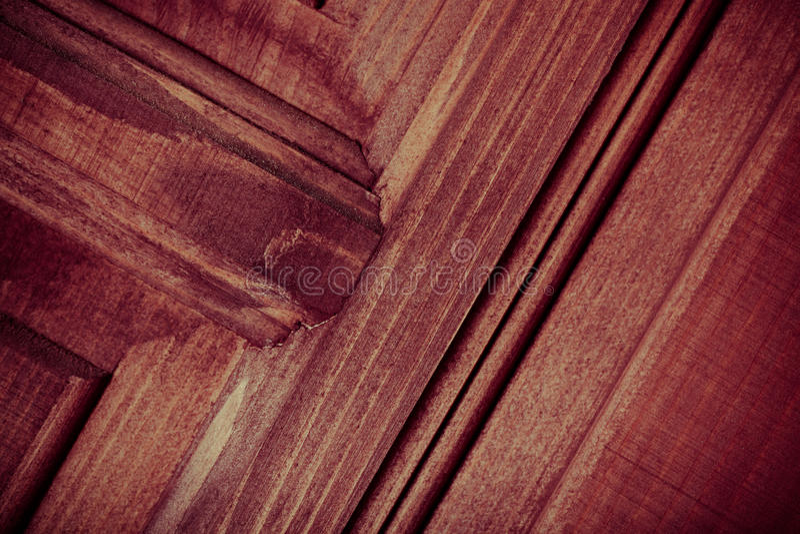 Fragment av den nya målade trädörren tonat royaltyfria foton