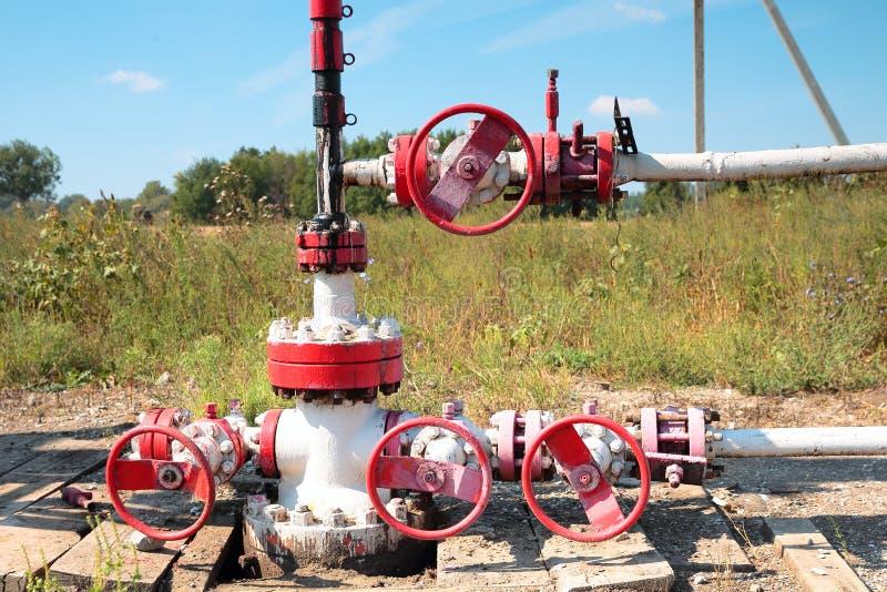 Fragment av den olje- pumpen Oljeindustri equipment arkivfoton