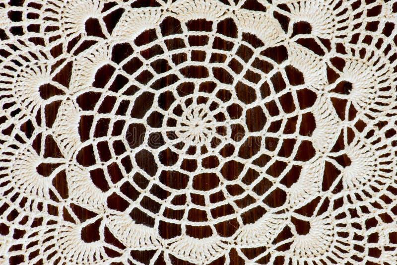 Fragment av en handgjord elfenbenvirkning royaltyfria bilder