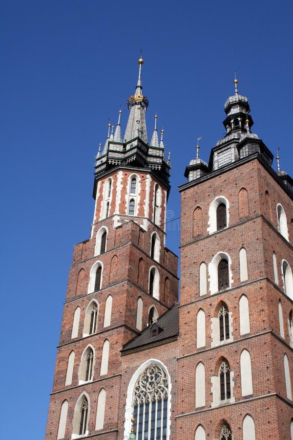 Fragment av en kyrka i Polen, Krakow arkivbilder