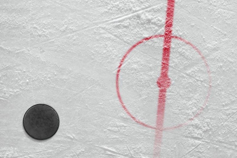 Fragment av ishockeyisbanahockey arkivbild