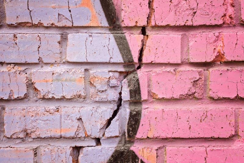 Fragment av murverktegelstenväggen arkivfoton