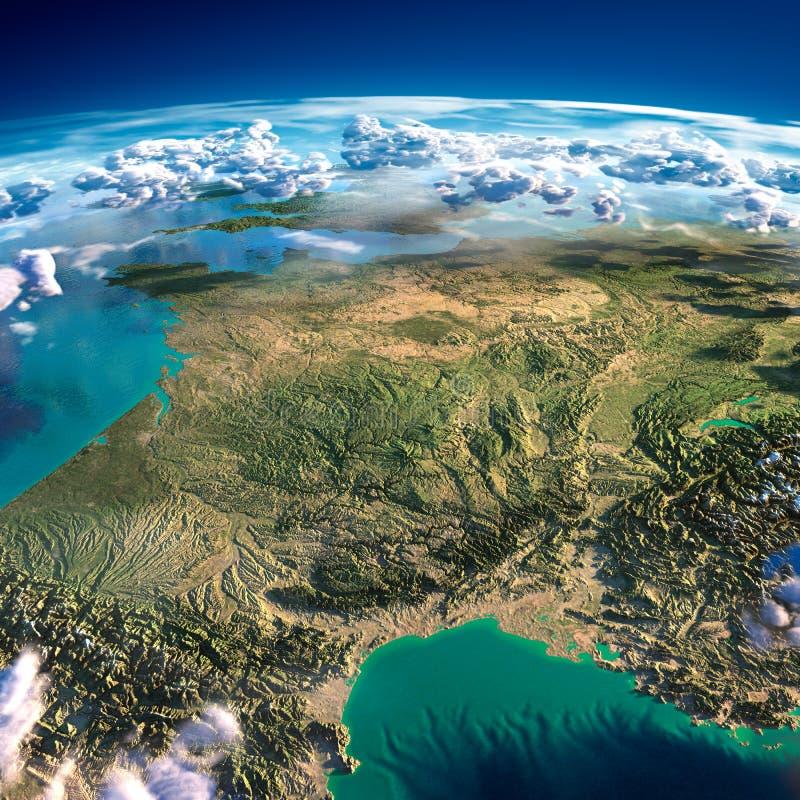 Fragment av planetjorden. Frankrike royaltyfri illustrationer