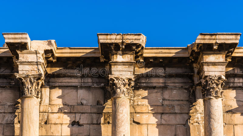 Fragment av restna av Hadrian'sens arkiv royaltyfria foton