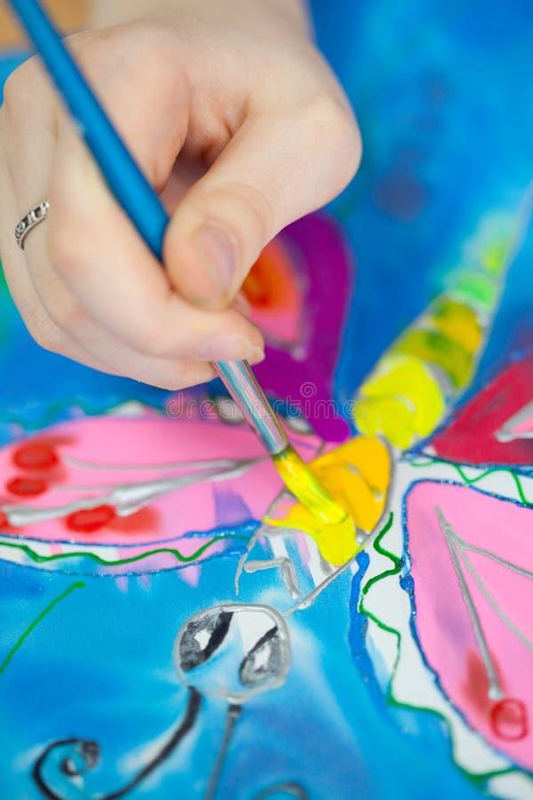 Download Fragment of batik painting stock image. Image of paintbrush - 13987549