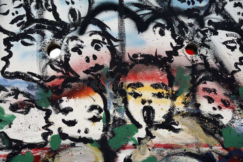 Fragment Of The Berlin Wall Editorial Photo