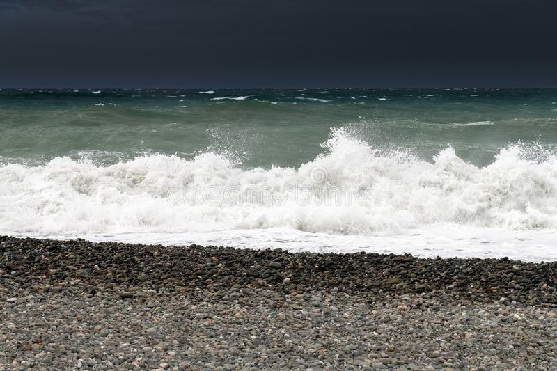 Fragment of Black Sea during the storm. Fragment of Black Sea during a storm royalty free stock photos