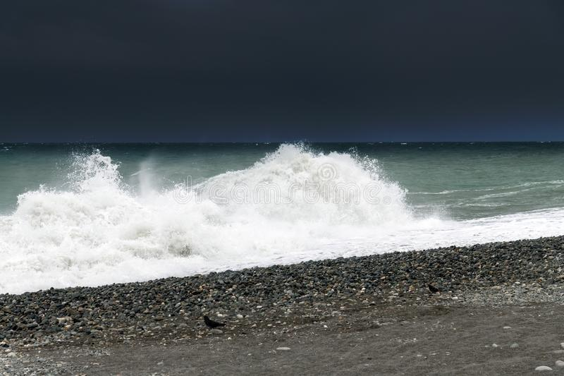 Fragment of Black Sea during the storm. Fragment of Black Sea during a storm royalty free stock image