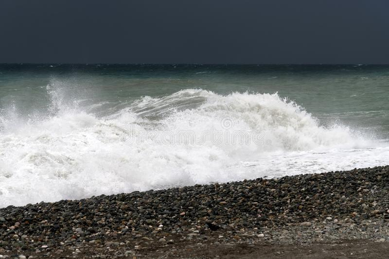 Fragment of Black Sea during the storm. Fragment of Black Sea during a storm royalty free stock photo