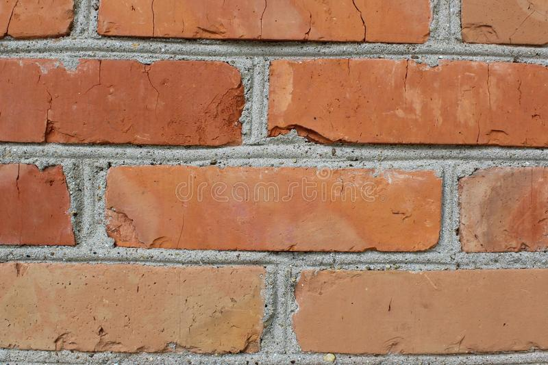Fragment of the brick wall royalty free stock photo
