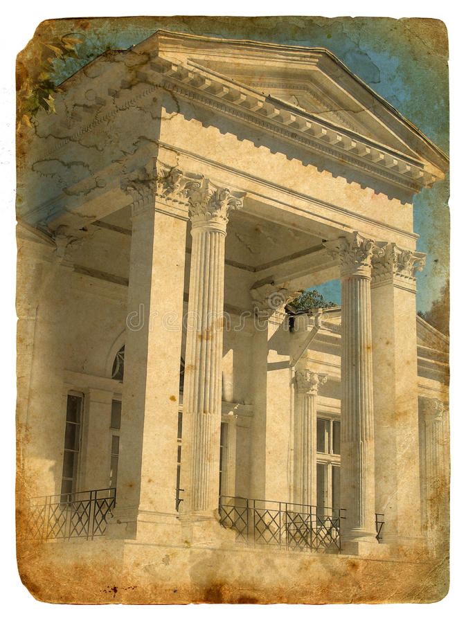 Download A Fragment Of A Building In Classical Style. Stock Image - Image: 23416831