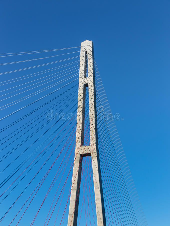 Download Fragment Of A Cable Stayed Bridge. Editorial Photography - Image: 33316887