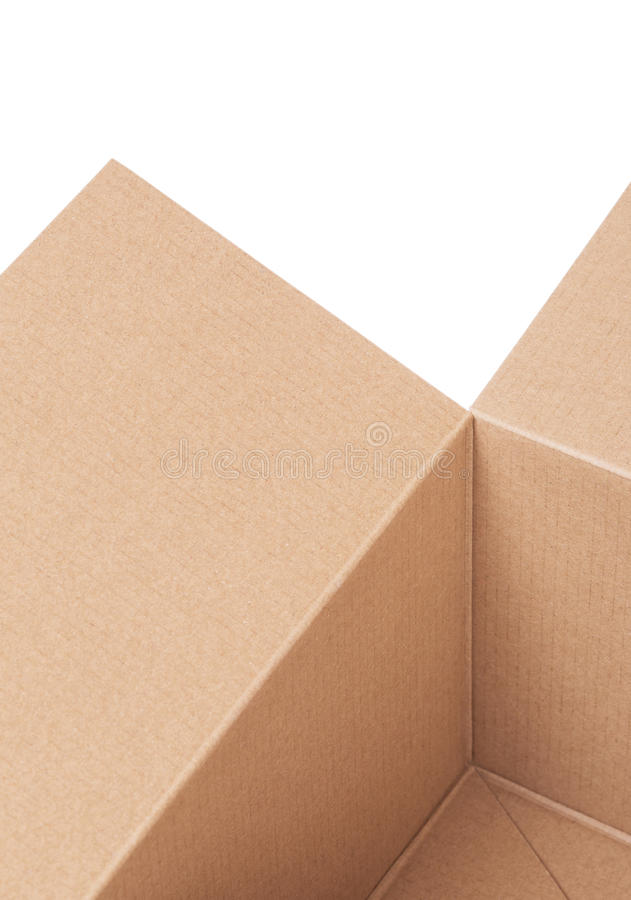 Fragment Of A Cardboard Box Stock Photography