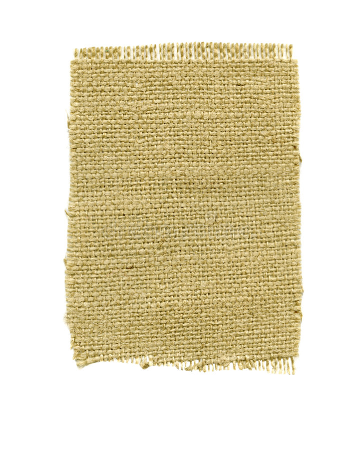 Fragment Of Coarse Textured Burlap Stock Photography