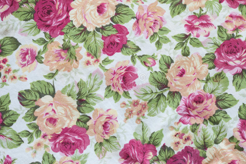 Fragment of colorful retro tapestry textile pattern with floral royalty free stock photo
