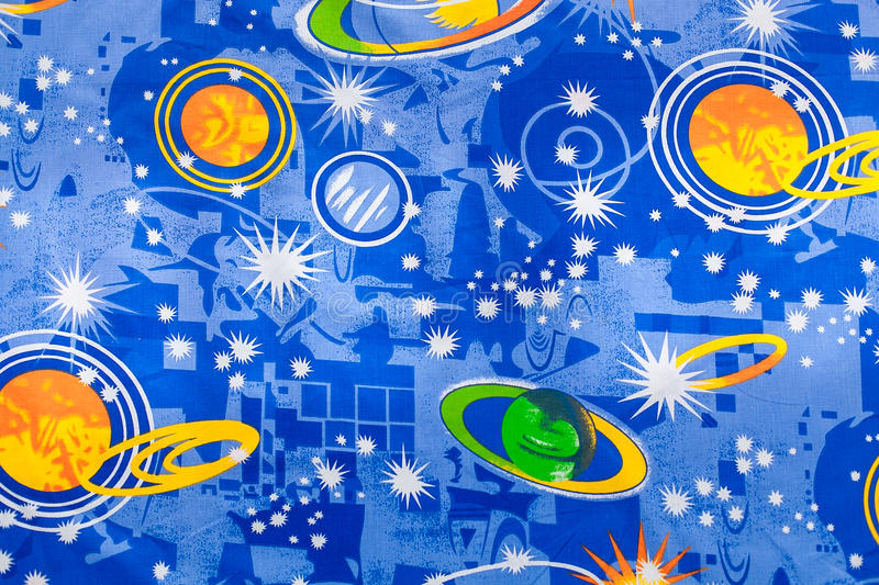 Fragment of colorful tapestry textile pattern with signs of zodiac useful as background royalty free stock photography