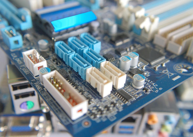 Download Fragment Of Computer Main Board Royalty Free Stock Photography - Image: 29792667