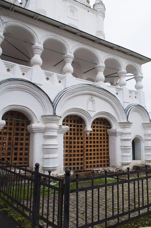 Fragment d'église russe antique Yaroslavl, Russie image libre de droits