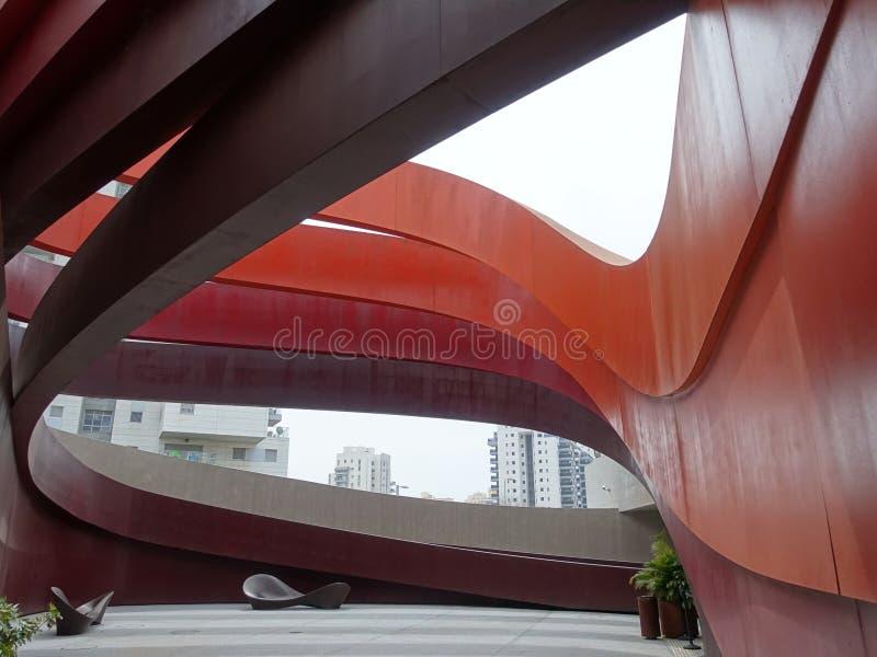 Fragment d'un b?timent peu commun Architecture moderne photo libre de droits