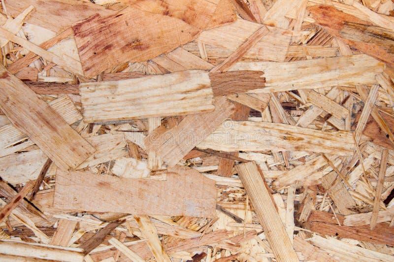 Fragment d'un plat des déchets pressés du bois image libre de droits