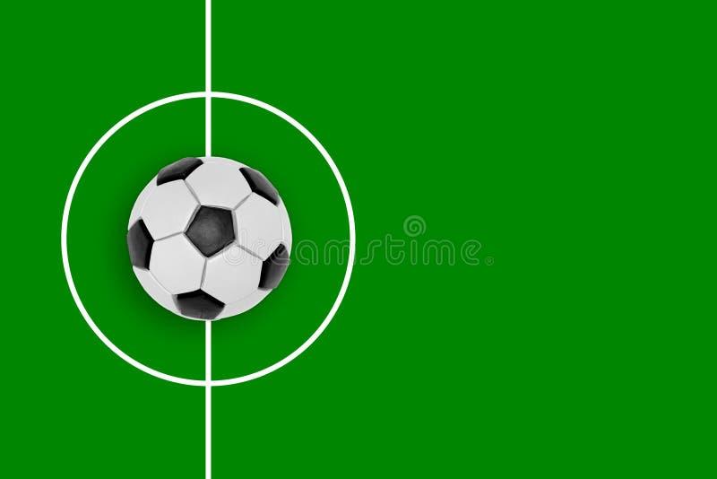 Fragment d'un terrain de football et d'une boule photo libre de droits